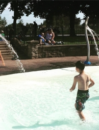 Outdoor pool at St Nicholas' park