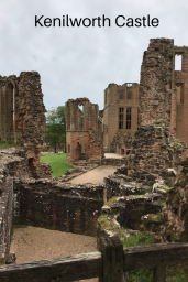View of the ruined Kenilworth castle