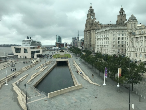 The view from the Museum of Liverpool