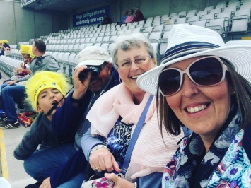 At the Cricket 20/20 in 2017